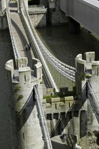 Conwy Suspension Bridge Ariel photograph